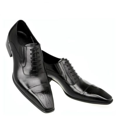 Genuine leather men oxfords shoes