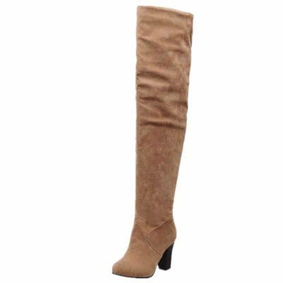 Women Thick High Heel Boots