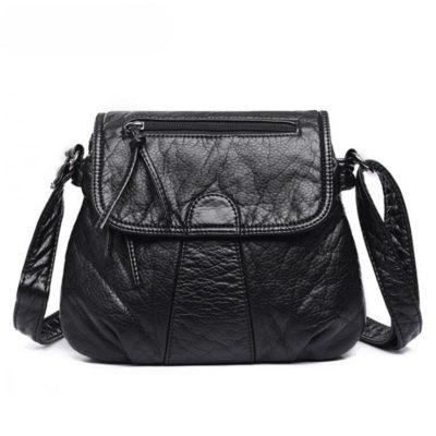 Elegant Compact Soft Leather Women's Crossbody Bag