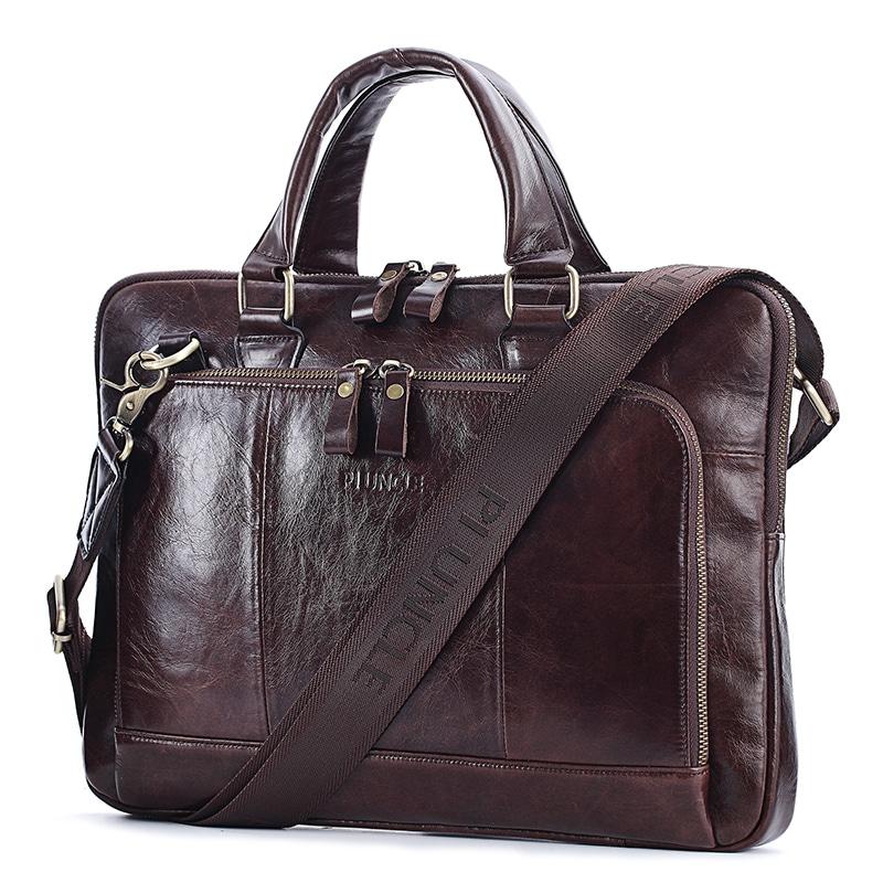 Genuine Leather Business Men's Briefcase