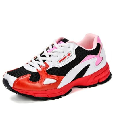 Lace-Up Breathable Mesh Sport Shoes