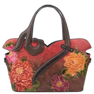 Women's Floral Genuine Leather Bags