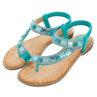 Stripe Flat-soled Beach Shoes