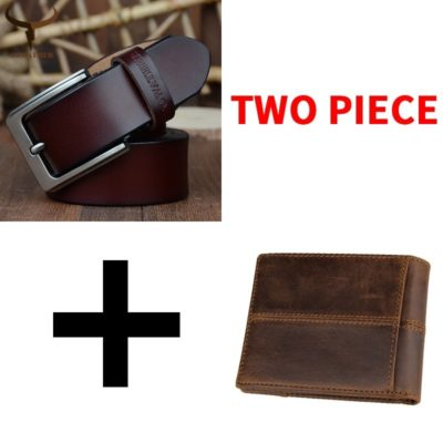 Genuine Leather Belt and Wallet