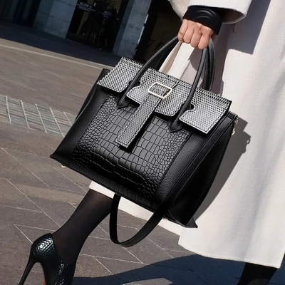 Women Crocodile pattern Handbag