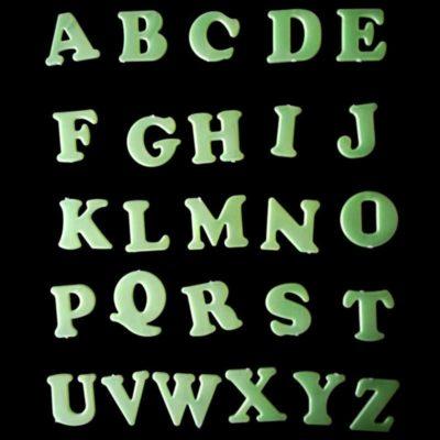 26 letters Luminous Rooms Fluorescent Sticker