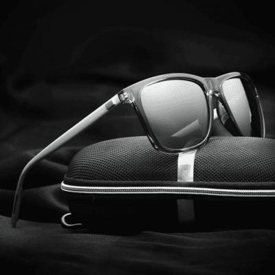 Classy Men's Sunglasses with Aluminum Frame
