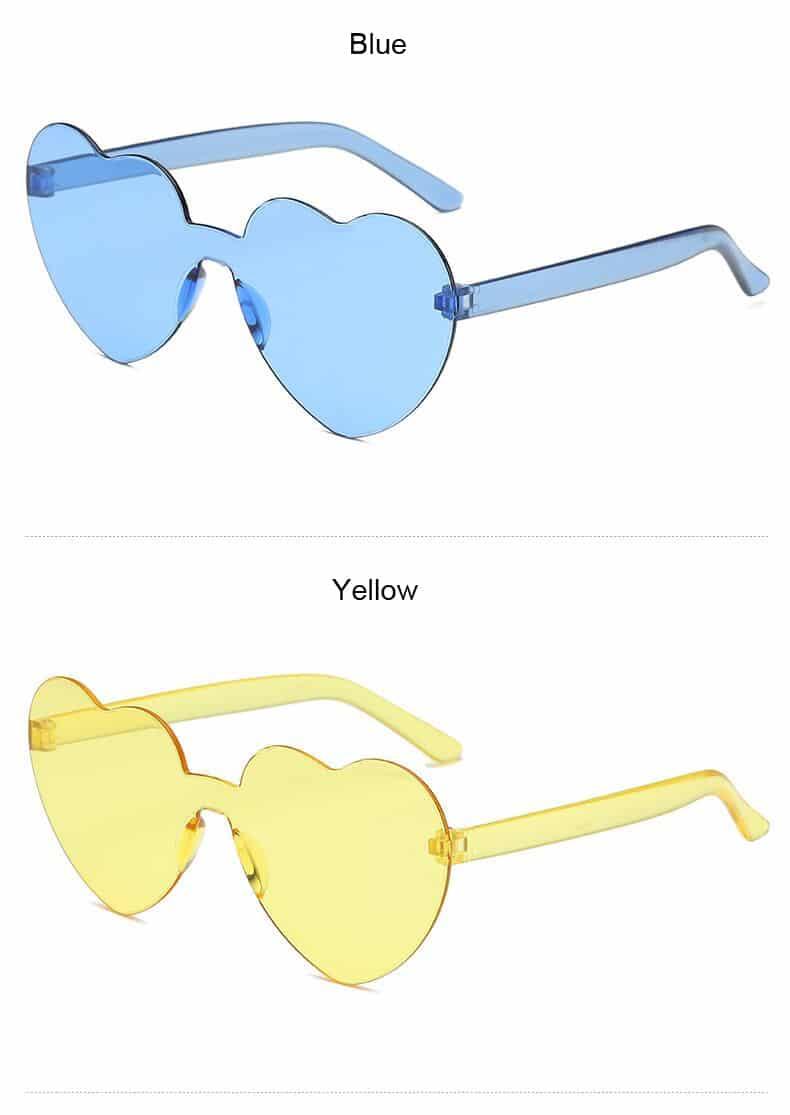 Women's Fashion Heart Shaped Rimless Sunglasses