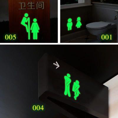 Bathroom Toilet Luminous door Wall Sticker