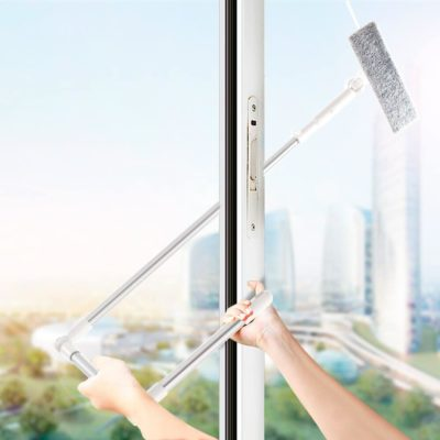 Microfiber Extendable Window Scrubber Cleaner