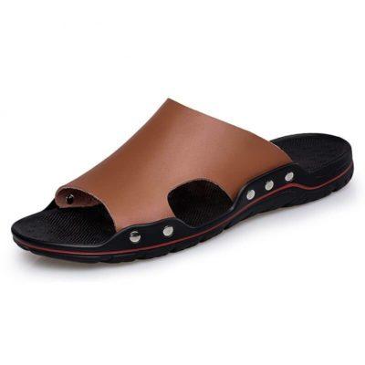 Men's Split Leather Slippers
