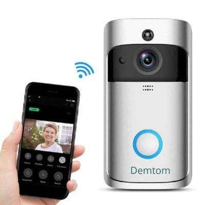 Demtom Wireless Wi-Fi Smart Video Doorbell