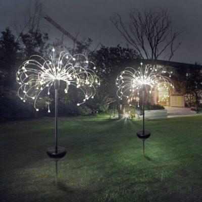 Solar Fireworks Lamp Garden
