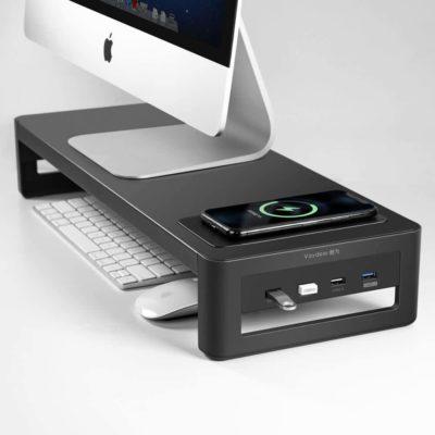 Monitor Charging Steel Desk Organizer
